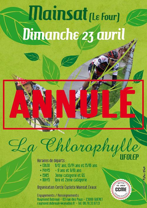 Annulation La Chlorophylle 2017