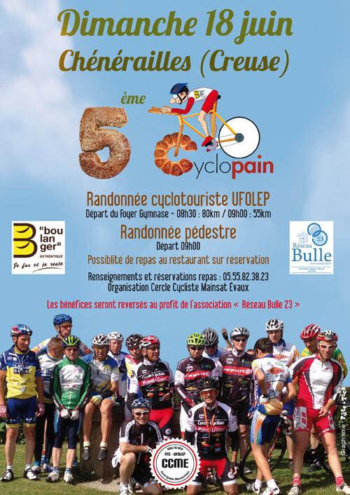 5ème édition de la randonnée cyclotouriste La Cyclopain