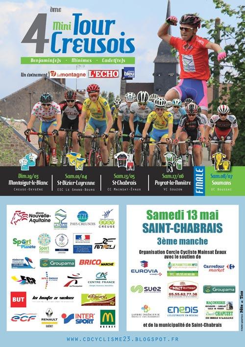 4ème Mini Tour Creusois Cycliste - 3ème manche à Saint-Chabrais