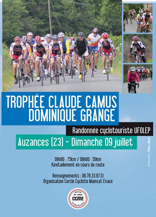 Affiche Trophée Claude Camus cyclo 2017