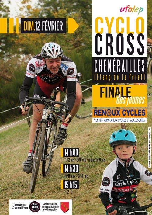 Affiche cyclo-cross UFOLEP Chénérailles 2017
