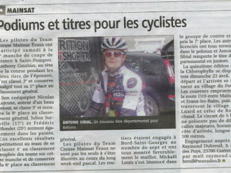 Article La Montagne Antoine Sibial champion de la Creuse juniors FFC