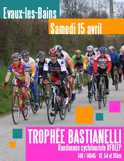 Affiche Trophée Bastianelli 2017 randnnée cyclotouriste