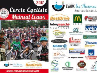 Brochure publicitaire 2017 Cercle Cycliste Mainsat Evaux