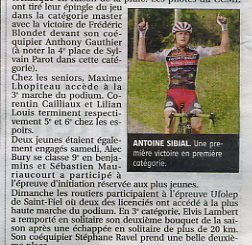 Article La Montagne 08 juin 2017 Cercle Cycliste Mainsat Evaux