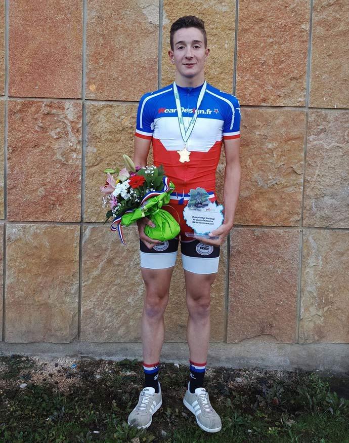 Lilian LOUIS Champion de France UFOLEP CLM à Montbard