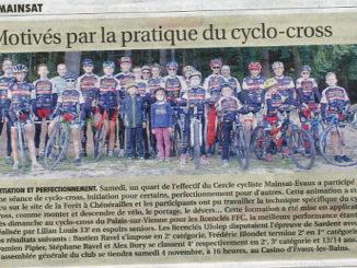 Séance d'initiation au cyclo-cross à Chénérailles