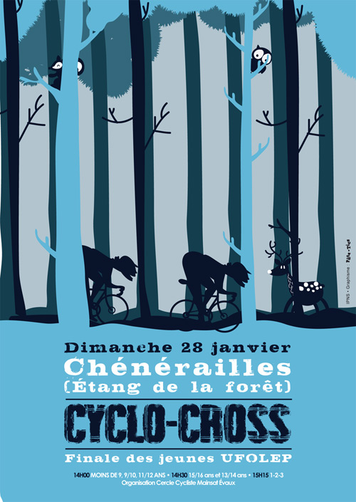 Affiche cyclo-cross UFOLEP 2018 à Chénérailles - Finale des jeunes
