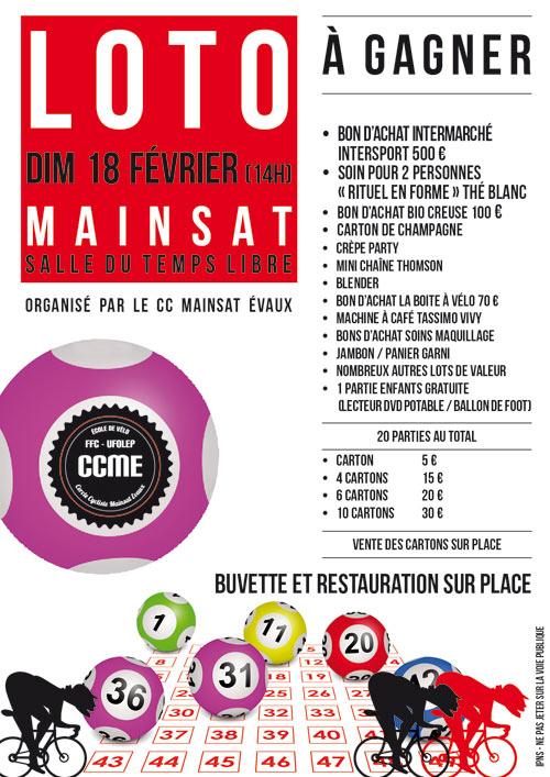 Loto Cercle Cycliste Mainsat Évaux en Creuse