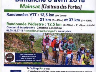 Affiche Challenge Vert VTT 2018 à Mainsat