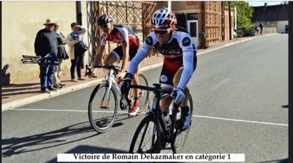 Romain Dekaezmaker vainqueur à Saint-Eloy-les-Mines UFOLEP 2018
