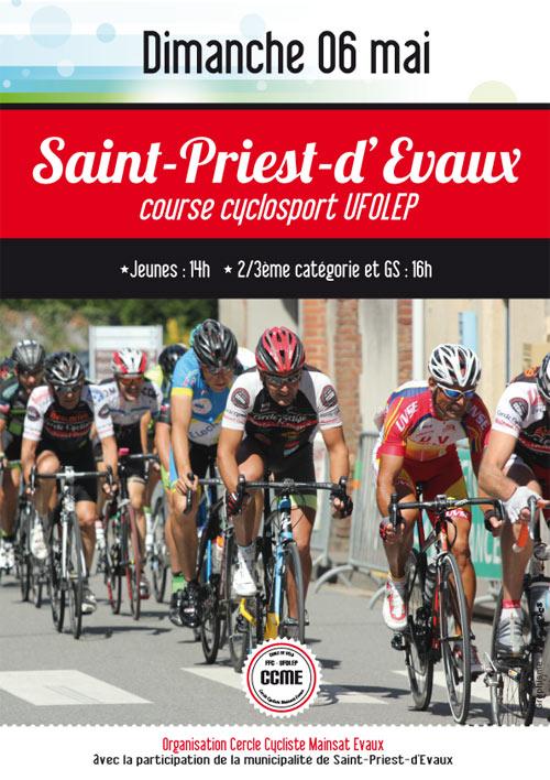 Affiche Saint Priest d'Evaux UFOLEP 2018