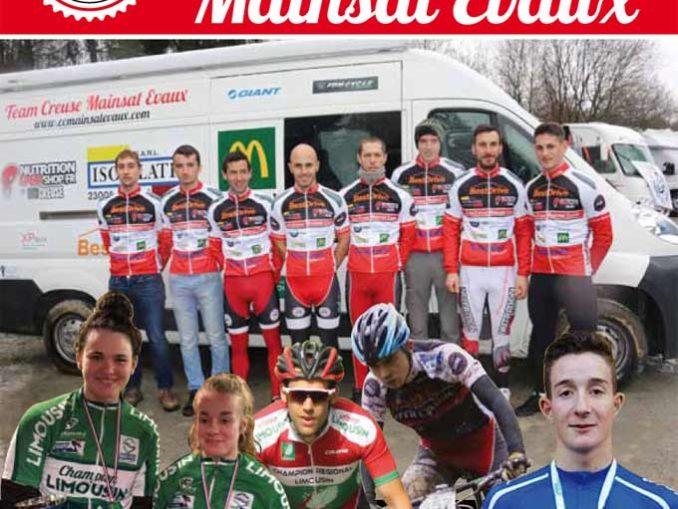 Couverture brochure publicitaire 2018 Cercle Cycliste Mainsat Evaux