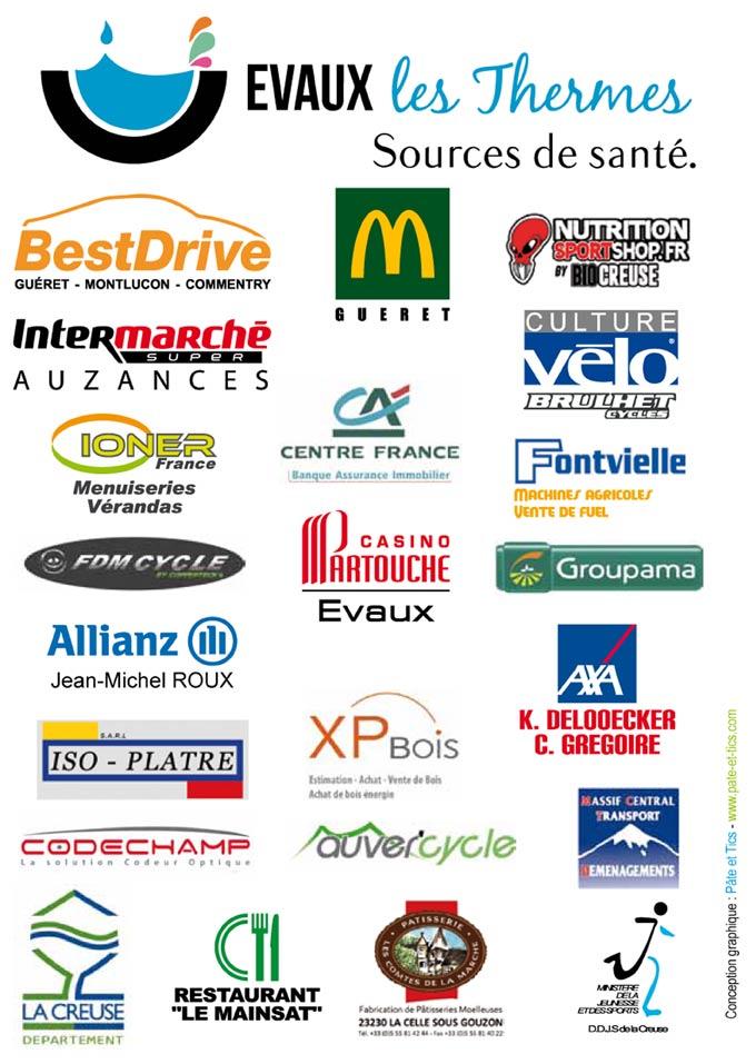Partenaires 2018 Cercle Cycliste Mainsat Evaux