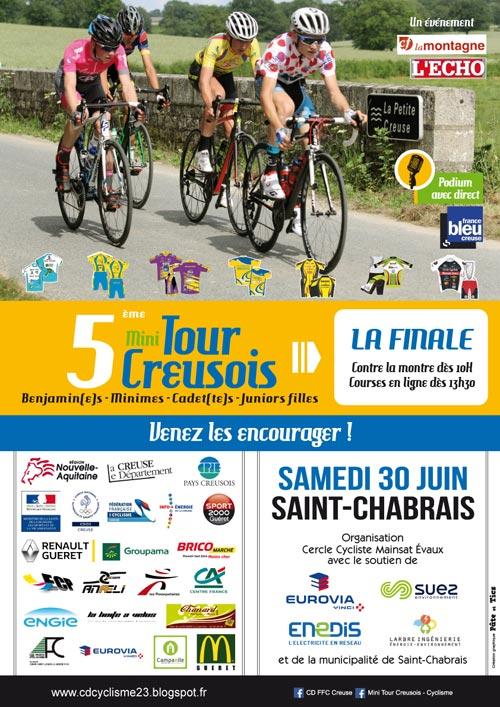Affiche finale Mini Tour Creusois 2018 à Saint-Chabrais