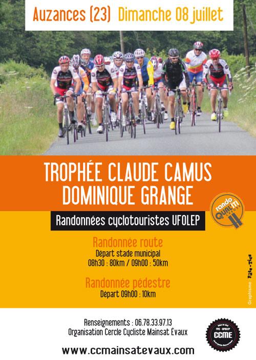 Affiche Trophée Claude Camus Auzances 2018