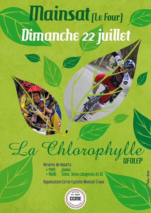 Affiche cyclosportive La Chlorophylle UFOLEP à Mainsat
