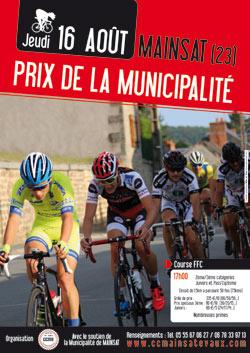 Course cycliste FFC à Mainsat