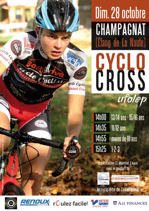 Affiche cyclo-cross UFOLEP à Champagnat La Naute