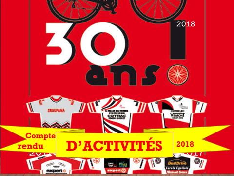 Rapport d'activités 2018 Cercle Cycliste Mainsat Evaux