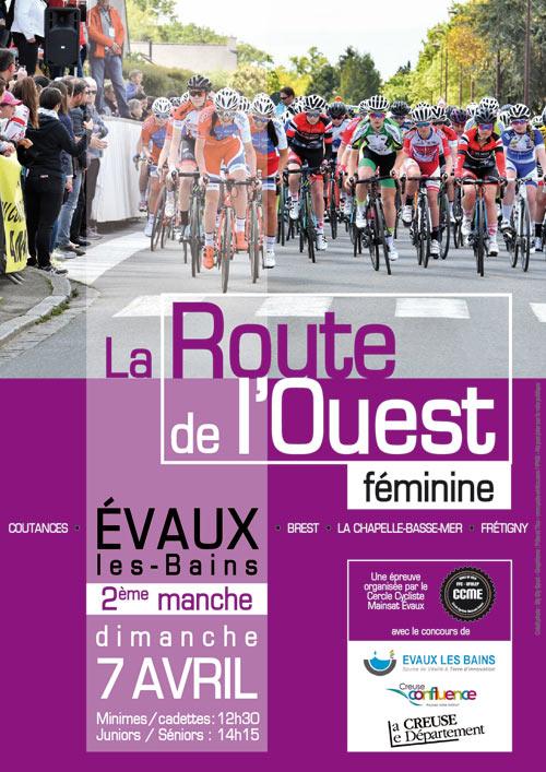 Affiche Evaux Route de l'Ouest Féminine 2019