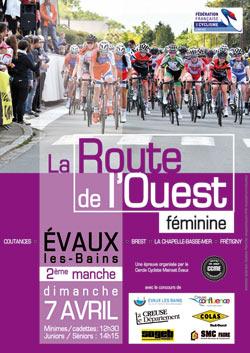 Route de l'Ouest féminine à Evaux-les-Bains