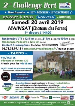 Challenge Vert VTT 2019 à Mainsat