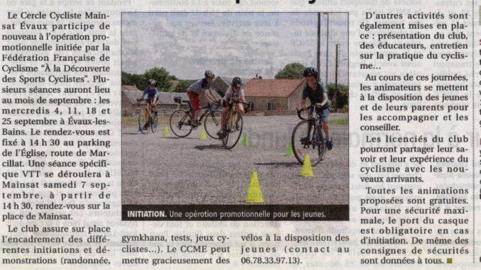 A la découverte des sports cyclistes Mainsat