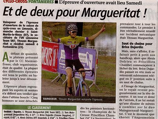 Titouan Margueritat Fontanières journal La Montagne
