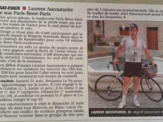 Laurent AUCOUTURIER Paris Brest Paris 2019 journal La Montagne