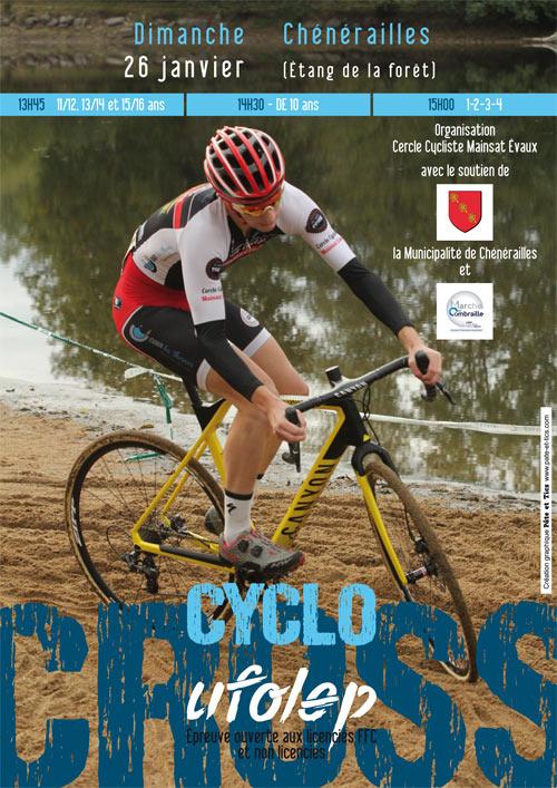 Affiche cyclo-cross UFOLEP 2020 à Chénérailles