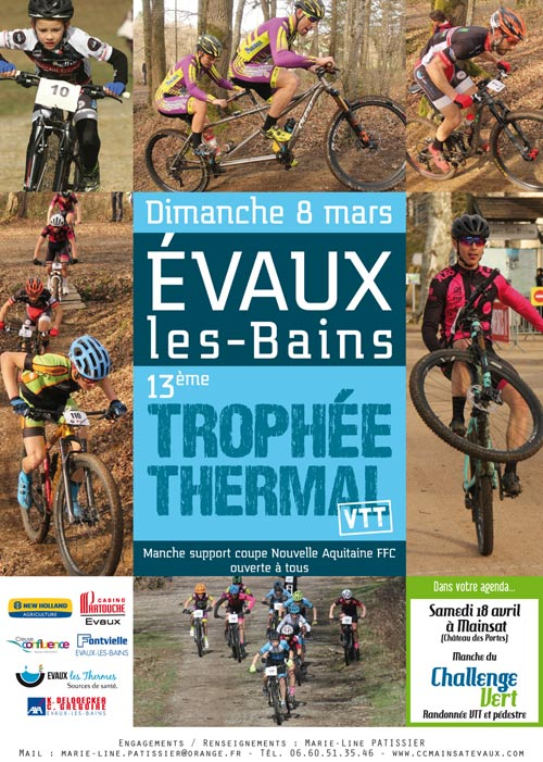 Affiche Trophée Thermal VTT à Evaux-les-Bains