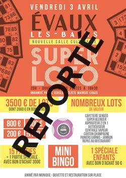 Super Loto Evaux-les-Bains Cercle Cycliste Mainsat Evaux