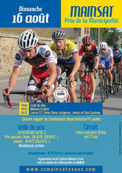 Prix cycliste FFC de la Municipalité à Mainsat