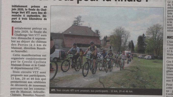Article Finale Challenge Vert VTT journal La Montagne