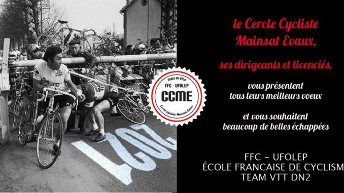 Voeux 2021 Cercle Cycliste Mainsat Evaux