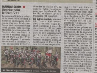 Article journal La Montagne 03 mars 2021 Cercle Cycliste Mainsat Evaux