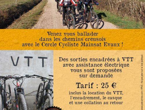 Sorties VTT électriques VAE en Creuse Haute Marche Combrailles