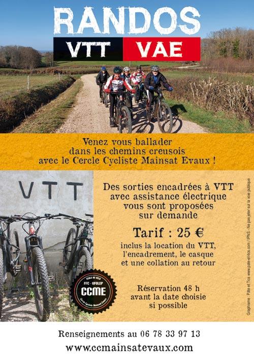 Sorties VTT électrique VAE en Creuse Haute Marche Combrailles